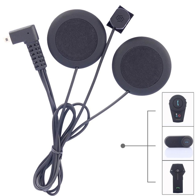 Soft Headphone With Microphone For Motorcycle Bluetooth Helmet Intercom Headset Match With FDCVB T-COMVB TCOM-SC