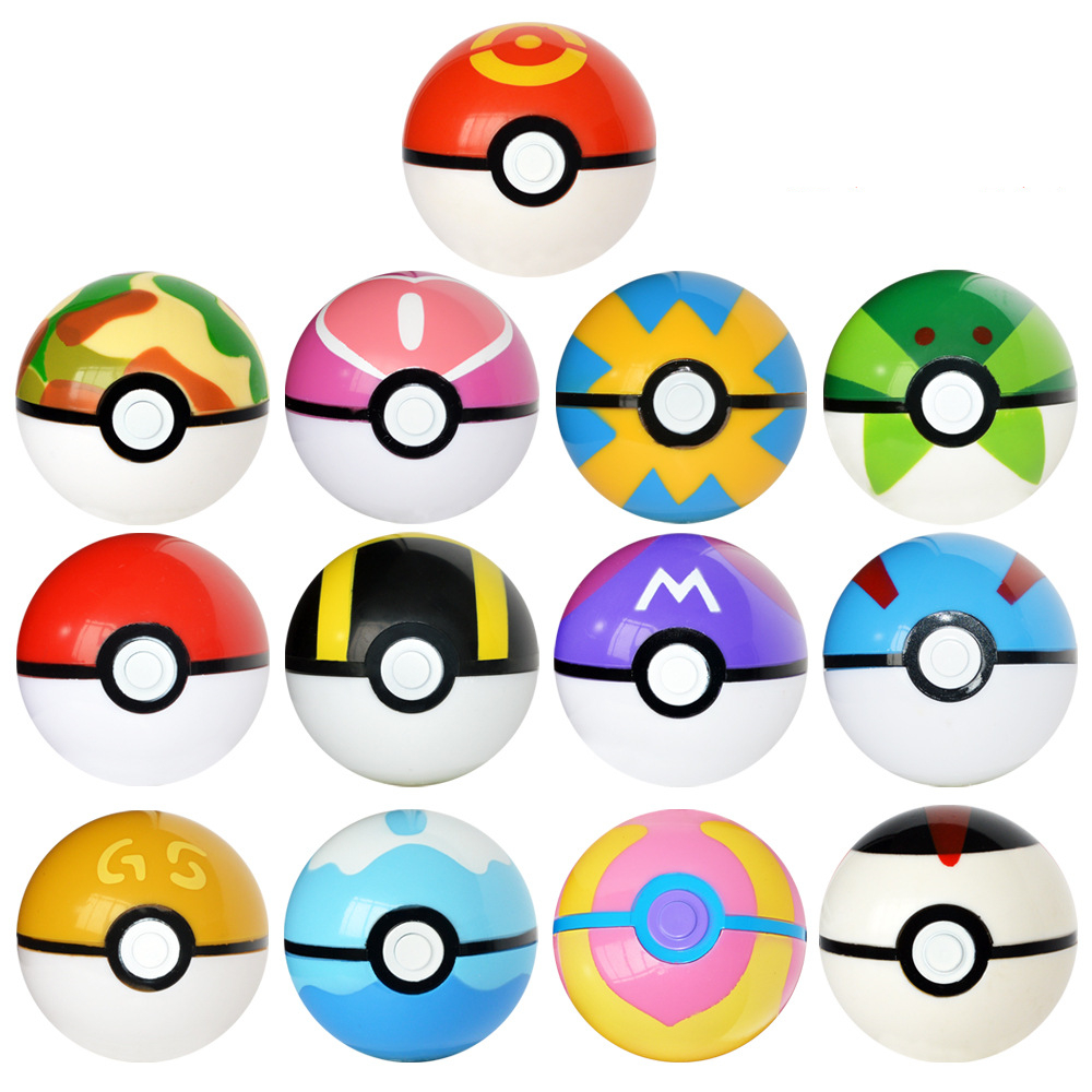 Free Shipping 7CM Pet Elf Ball Pocket Monster Ball Pokeball Toys Can Dream Bedroom furnishings for children Gift