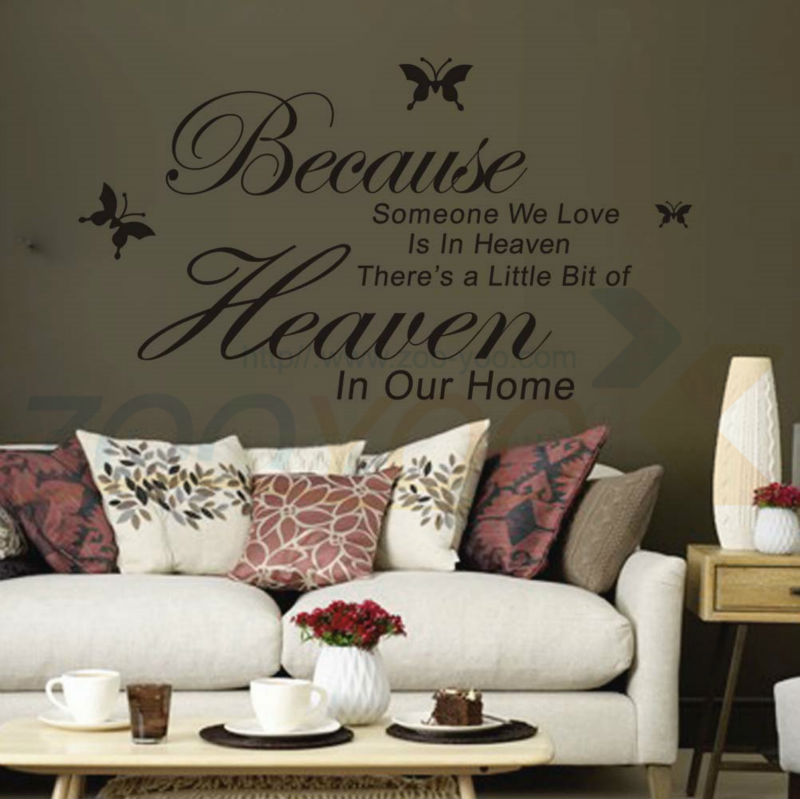 Because DIY Removable Art PVC Vinyl Quote Wall Stickers Decal Mural Home Decor S