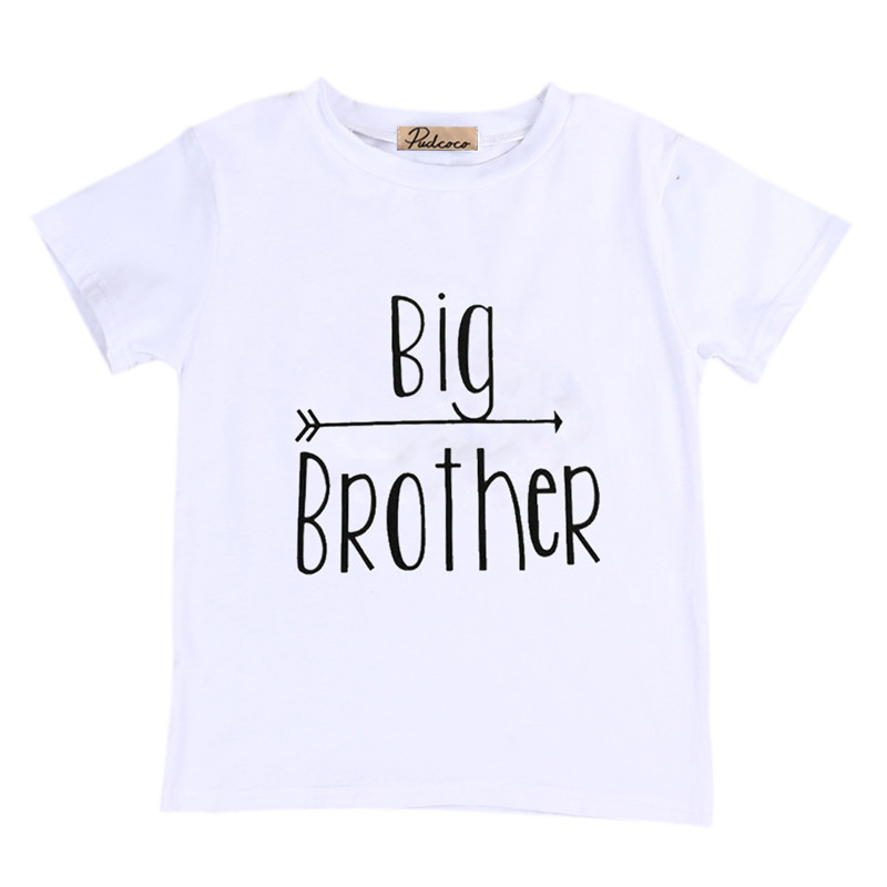 Summer Little Big Brother Boys Shirt Bodysuit Toddler