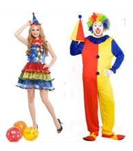 Fantasy Women Clown Costume Adult Men Carnival Harley Quinn Cosplay Fancy Party Dress Halloween