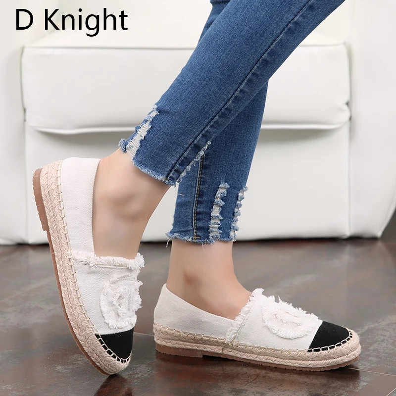 8872ad5baf65 ... Plus Size 41 Women Espadrilles Sneakers Comfortable Casual Loafers Shoes  Woman Slip On Flats Hemp Platform
