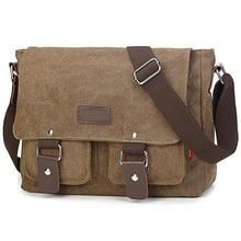 Männer Vintage Leinwand Tasche Männer Casual Umhängetasche Für Männer Umhängetasche Mann Reise Schulter Taschen Bolsa Masculina Hohe qualität