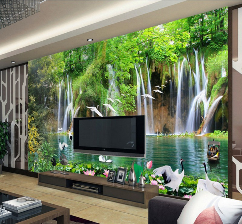 ᓂPersonalizado HD naturaleza paisaje agradable ríos montañas egrets ...