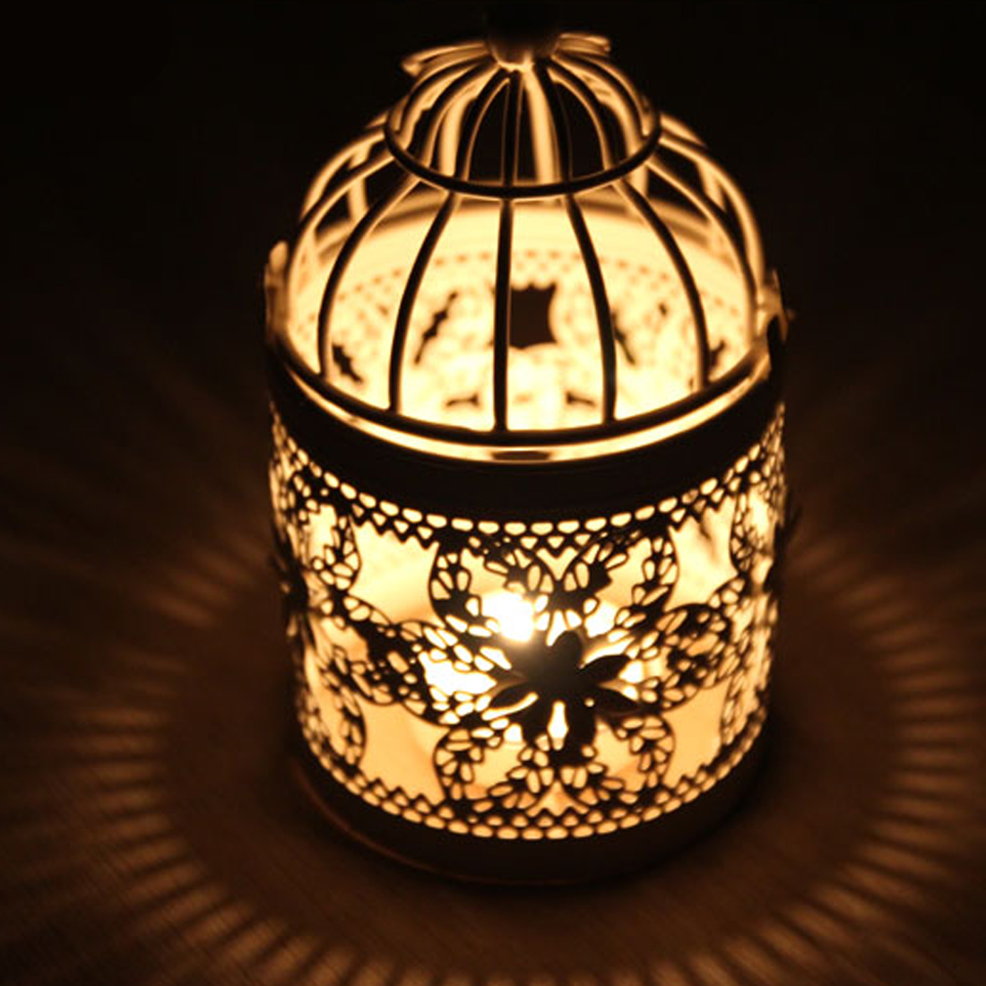 Candles & Holders Home & Garden European Style Metal Candle Holder White Candlestic Moroccan Lamp Metal Lantern Wedding Decoration Portavelas Candlestick Jkl071 Wide Varieties