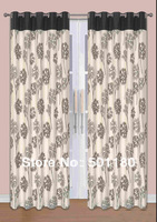 Free Shipping Quality Curtains Normal One Pair Of Eyelet Lined Curtains 65x90 Inch 100 Polyester Window
