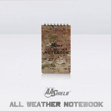 """AA щит любую погоду """" X 5"""" Водонепроницаемый Примечание камуфляж Открытый карта ноутбук"""