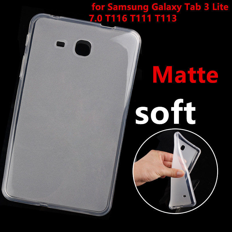 case for Samsung Galaxy Tab 3 Lite T110 T111 T113 T116 7 inch Tablet Clear Soft silicone TPU Back Cover Case Protective shell keter