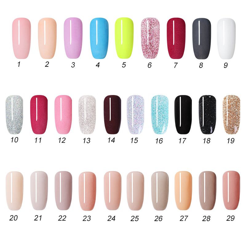 Image 3 - NICOLE DIARY 10g Pure Nail Color Dipping Glitter Gradient French Dip Nail Powder Natural Dry Manicure Art Chrome Dust Pigment-in Nail Glitter from Beauty & Health