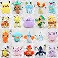 20 Unids/lote Pocket Pikachu Juguete de Felpa Jirachi Jigglypuff Lugia Mudkip Mew Clefairy Cubone Ídem Vulpix Muñecos de Peluche Suave