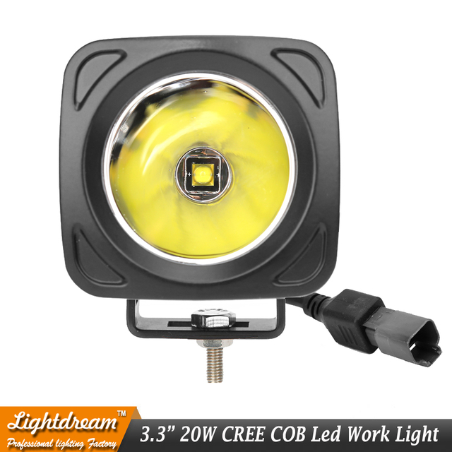 3 Inch 20 W Vierkante LED Verlichting 12 V Spot Lamp Voor 4x4 ...