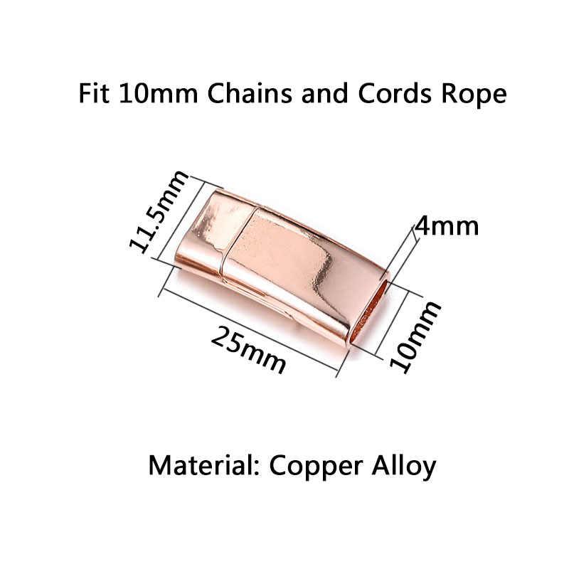 5 ชิ้น/ล็อต Glossy แม่เหล็ก Clasps โลหะผสมแม่เหล็กหัวเข็มขัด 10 มม.ตัวเชื่อมต่อสำหรับสร้อยข้อมือหนัง DIY ผลการค้นหาเครื่องประดับ