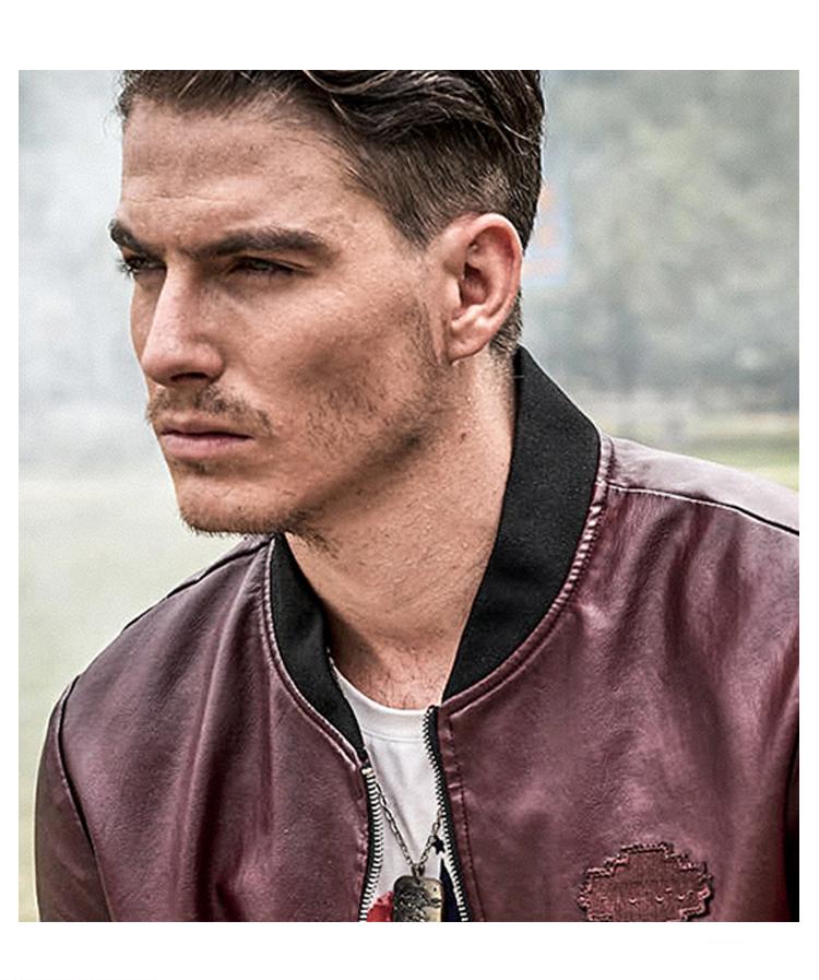 77 город убийца искусственная кожа для мужчин в куртки 2017 осень пилот ПУ бейсбол куртка с воротником бренд военная униформа пальто для для мужчин высокое качество p777