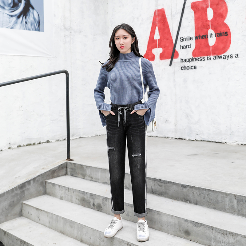 Audacious Jeans New Style Of Women's Wear In Spring 2019 Loose Cec Pants Women's Straight Pants High Waist Slim Hallen Trousers