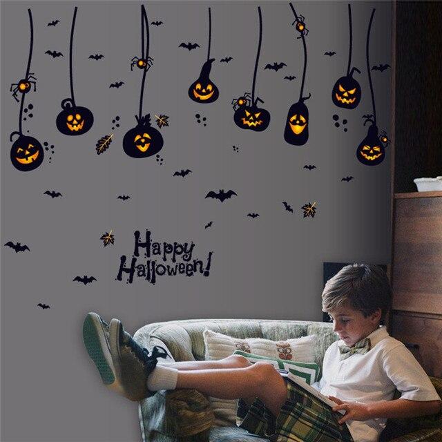 3d diy pvc bat wall sticker decal home halloween pumpkin charm