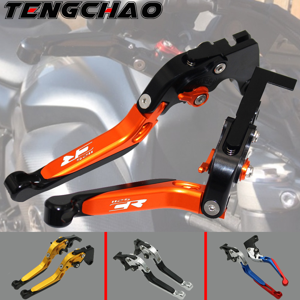 Motorcycle Folding Extendable CNC Moto Adjustable Clutch Brake Levers For <font><b>Buell</b></font> <font><b>1125CR</b></font> 1125 CR 2009 image