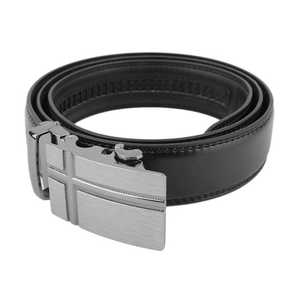 Classical Automatic Buckle Belt Genuine Leather Men Belt Waist Strap For Leisure Office School Business Evening Party