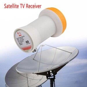 Image 2 - Универсальный HD Ku Band одиночный LNB ДВОЙНОЙ НИЗКИЙ Bnad 9,75/10,6 GHZ высокий диапазон 60 дБ спутниковый ресивер