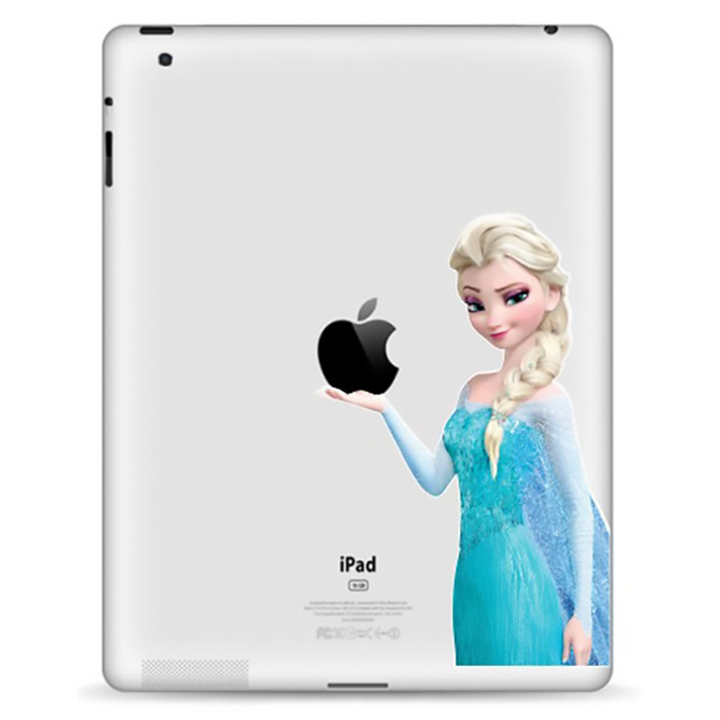 Tablet Decals Funny Stickers The Snow Queen For IPad1/2/3/4 Air/Pro9.7inch IPad Mini1/2/3/4