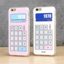 "Case For IPhone 6 4.7""Cute Cartoon Pink Calculator Lucky Numbers Case For IPhone 6 6 6S Plus 5 5S SE Cases Back Cover C609"