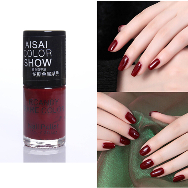 1 Pc Hot Ing 15ml Charming Dark Wine Red Color Nail Polish Soak Off Art