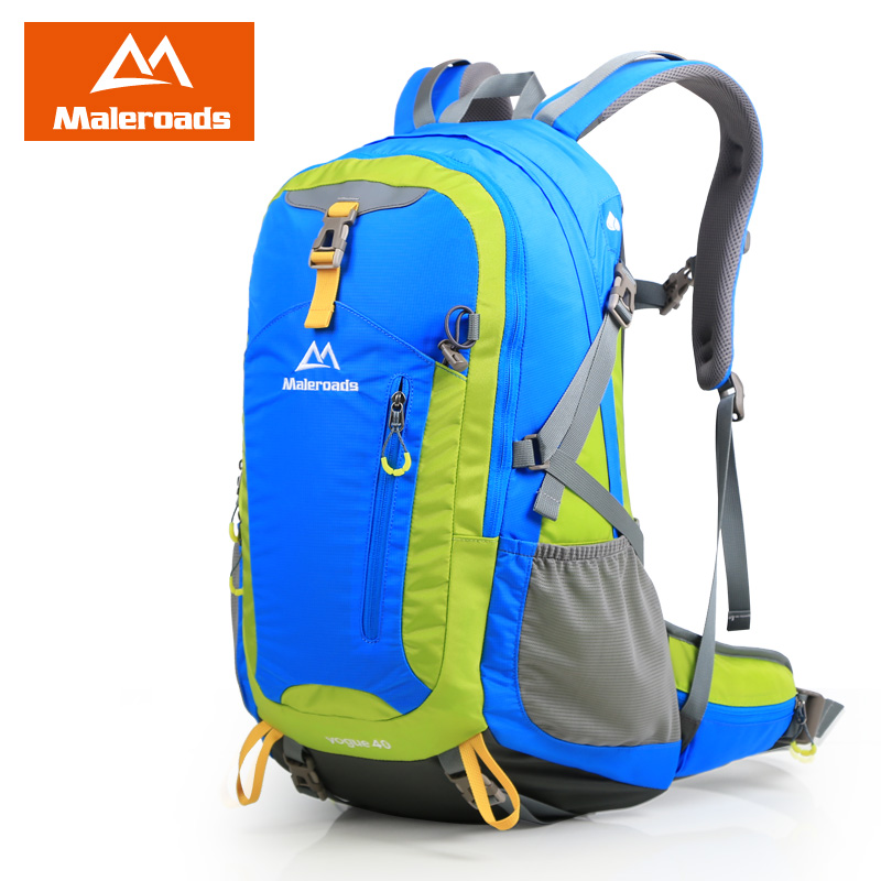 Maleroads 40L Waterproof Men Travel Backpack Tourist Camp Hike Mochila Climb Mountaineering Bags Women Laptop Back Pack 2016 large 75l feel pioneer professional waterproof cr travel backpack camp hike mochilas climb bagpack laptop bag pack for men women