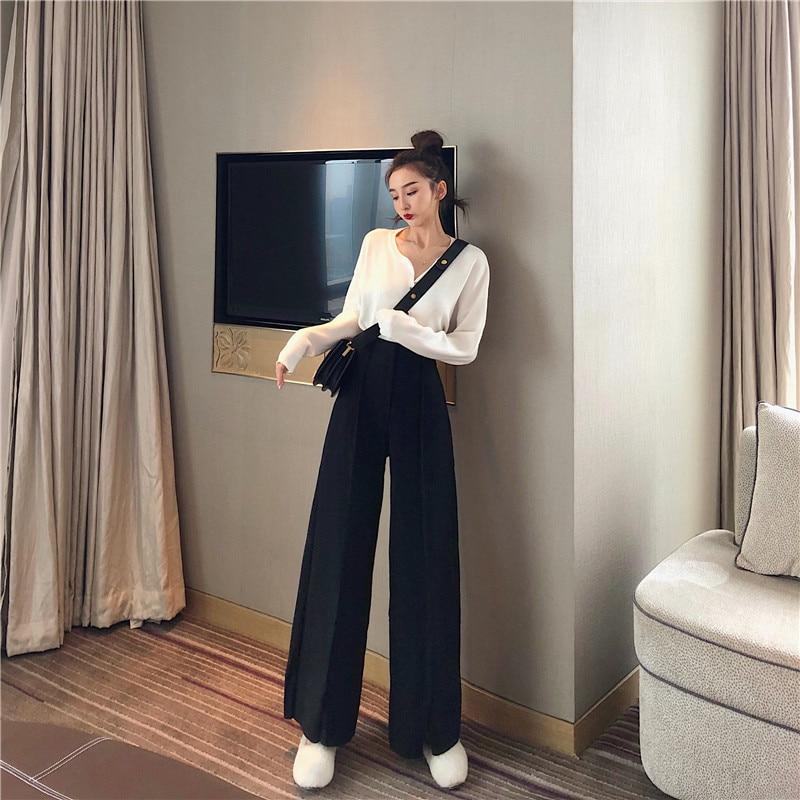 Women's Pants Elegant Style Plaid Pants for Women Autumn Casual Loose Elastic Waist Trousers Harajuku Female Ankle-Length ZT1954 3