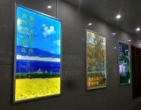 4 pcs/lot Silver Frame Ultra Thin Aluminum Snap Frame Led Light Box for Advertising(24