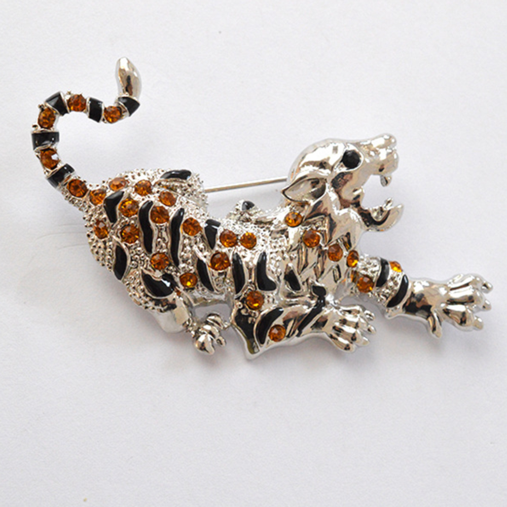 Jardme Unisex Crystal Rhinestone Cheetah Brooch Pin Sex Animal Costume Fashion Jewelry Accessory Valentines Day Gifts
