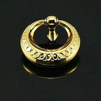 48mm Shaky Drop Rings Knobs 24K Gold Drawer Knobs Pulls Zinc Alloy Dresser Bedside Table Watch