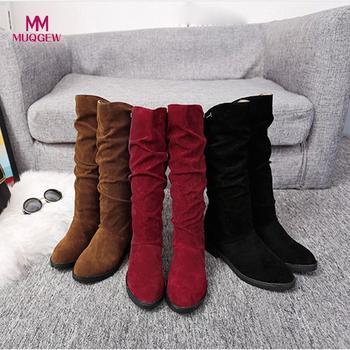 Women Girls Fashion Shoes Autumn Winter Boots Ladies Sexy Sweet Outdoor Boot Stylish Flat Flock Shoes Snow Boots Botas planas римские сандали