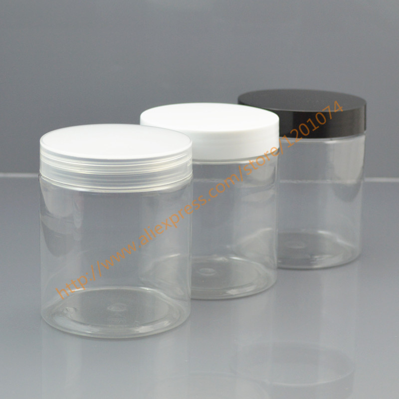 250g clear PET Skin Care Cream Jar 250ml transparent Plastic Storage Clear Container PET Cookie Jar