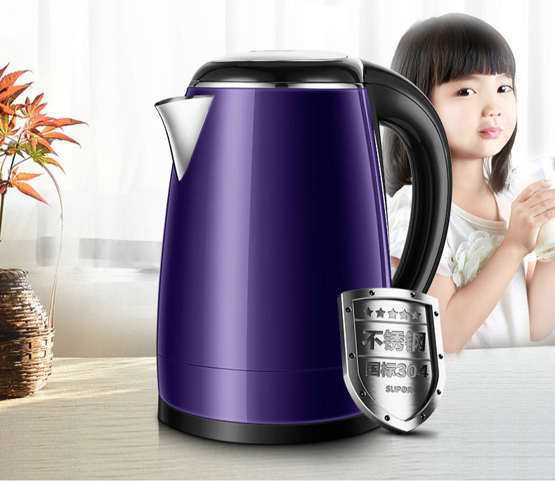 Household electric kettle 304 stainless steel automatic power Safety Auto-Off Function electric heating kettle household 304 stainless steel fast automatic power safety auto off function