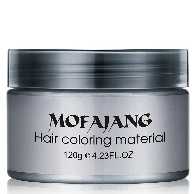 Cera Cor de cabelo Dye One-time Estilo Produtos de Styling Moldagem Pasta Sete Cores Tintura de Cabelo Cera EE5