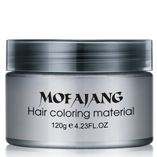 Hårfarve voksfarve One-time Style Styling Products Moulding Paste Seven Colors Hair Dye Wax EE5