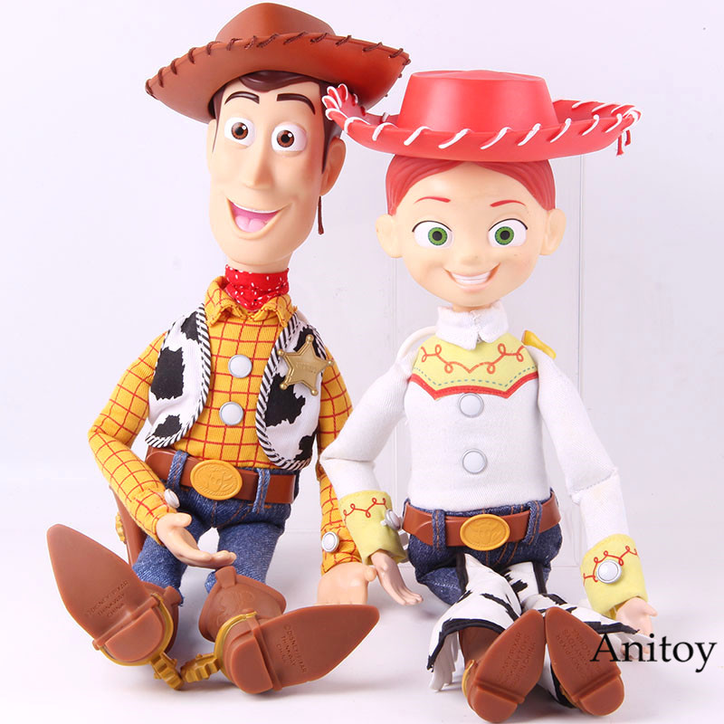 Toy Story Woody Jessie Talking Action Figure 1995-2015 Sherif PVC Collectible Model Toy Decoration DollToy Story Woody Jessie Talking Action Figure 1995-2015 Sherif PVC Collectible Model Toy Decoration Doll