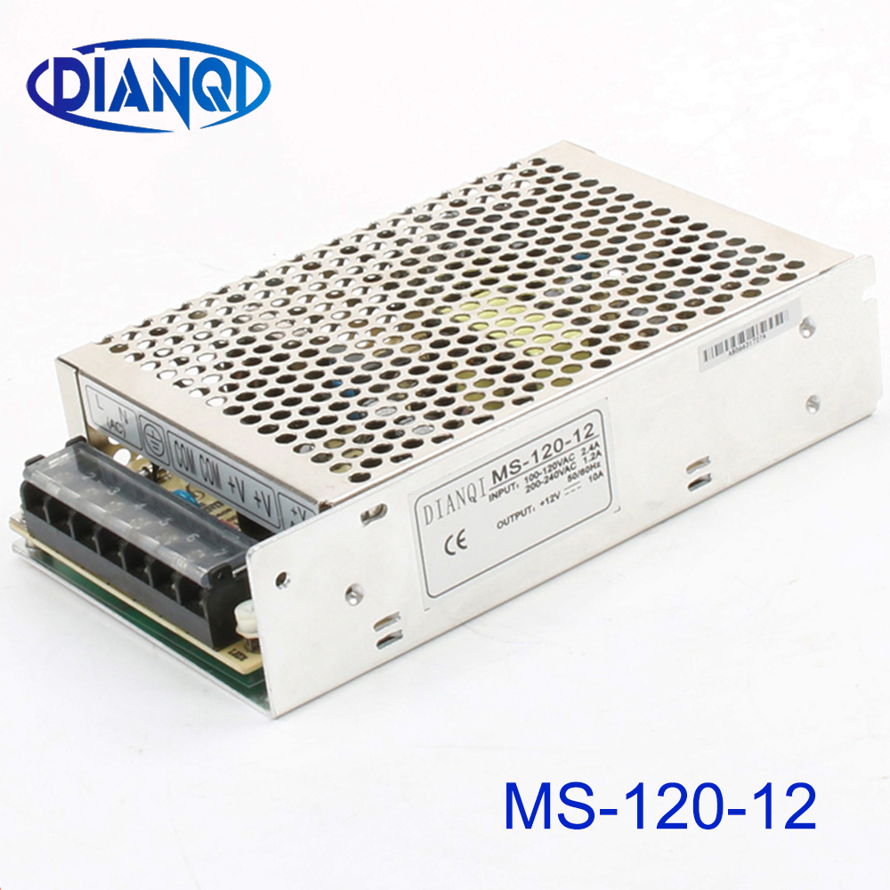 DIANQI power supply MS-120W-12V mini size ac dc converter power supply unit dc voltage regulator MS-120-12 variable dc mini size image