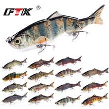 FTK Bass Fishing Lure 4 Segments Wobblers Tackle 1pc Swim Bait 152mm/36g Assorted Floating Hard Sinking Topwater Crankbait HF