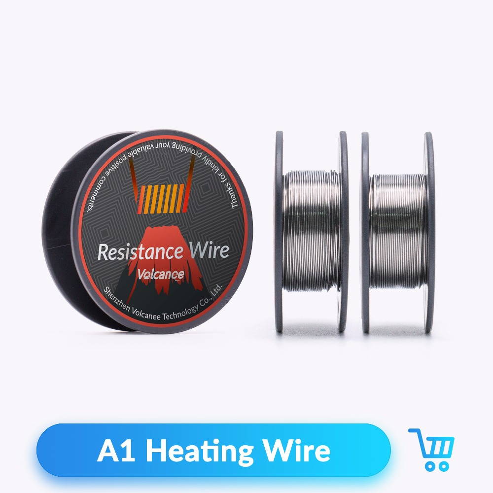 Volcanee 10m/roll A1 Coil Heating Wire for RDA RBA RTA Atomizer Vaporizer Tank Vape DIY Rebuildable Wire Coil Tools E Cigarette 5pcs pack 50 50mm stainless steel ss 316l mesh coil for vape mesh rda atomizer tank vaporizer