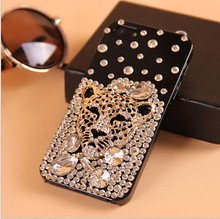 tiger leopard Bling Crystal Diamond Phone Case For Iphone 8 X 7 6 6S Plus 5S XS Max Samsung Galaxy Note 7 5  S7 S6 Edge Plus S5