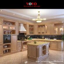 Твердый деревянный кухонный шкаф двери античный белый