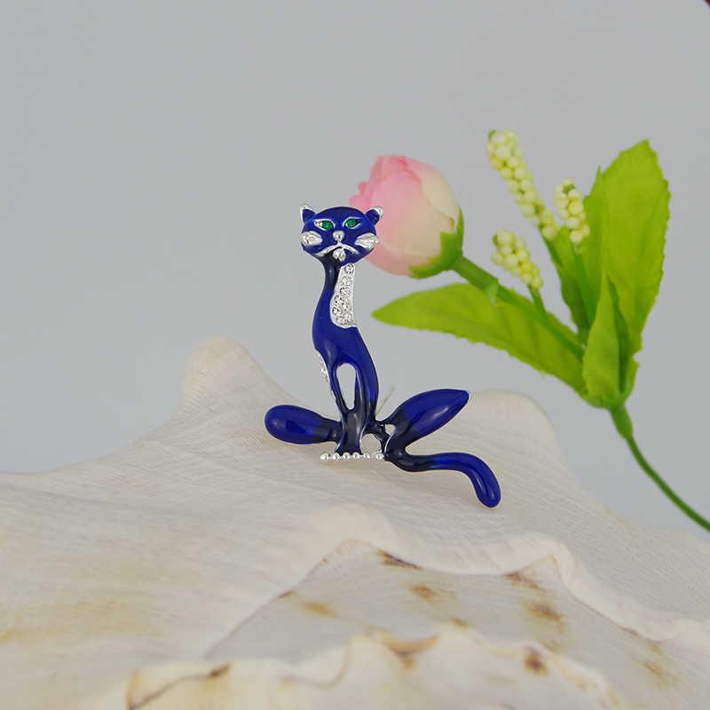 WXJCAN charme fox brooch Dello Smalto spilla per le giovani donne spille e pins Trasporto libero 55 millimetri * 40 millimetri B5553