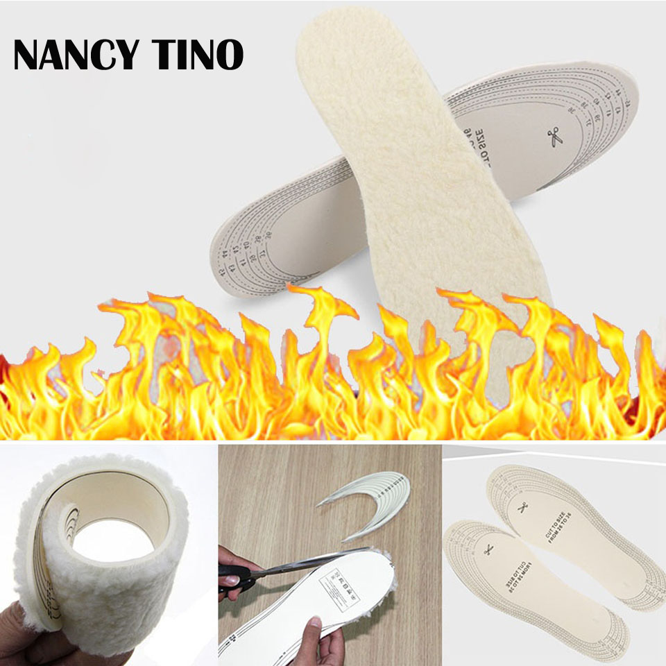 NANCY TINO Unisex Winter warm insoles For Shoes Artificial Cashmere Thermal Shearling Snow Boots Shoes Pads  Winter Shoes Insole nancy кукла нэнси в голубой юбке плетение косичек nancy