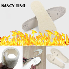 NANCY TINO Unisex Winter warm insoles For Shoes Artificial Cashmere Thermal Shearling Snow Boots Pads  Insole