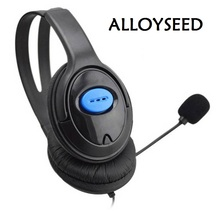 ALLOYSEED Gaming Headphones for PC Computer 3.5mm jack headset with Mic Microphone Wired for PS4 Sony PlayStation 4  PS4 headset