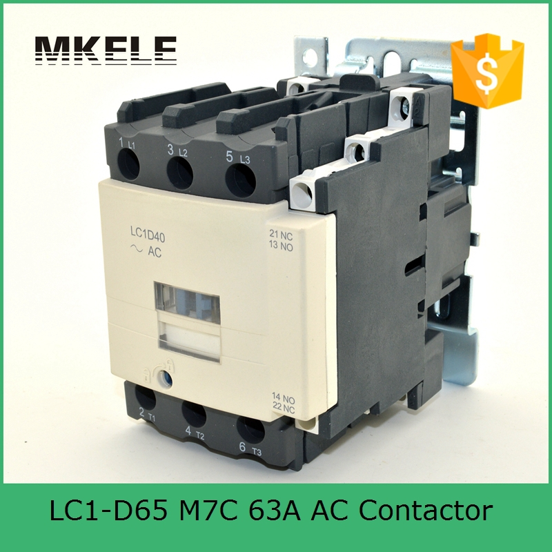 цена на LC1-D65 Q7C 63A ac contactor ac motor control contactor electrical magnetic contactor 380V coil voltage three phase 3P+NO+NC