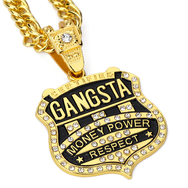 2pcslot gangsta pendant men necklace hip hop jewelry gold color 2pcslot gangsta pendant men necklace hip hop jewelry gold color music rock hiphop rappers mozeypictures Image collections
