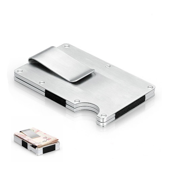 EDC Metal Money Clip Card Holder