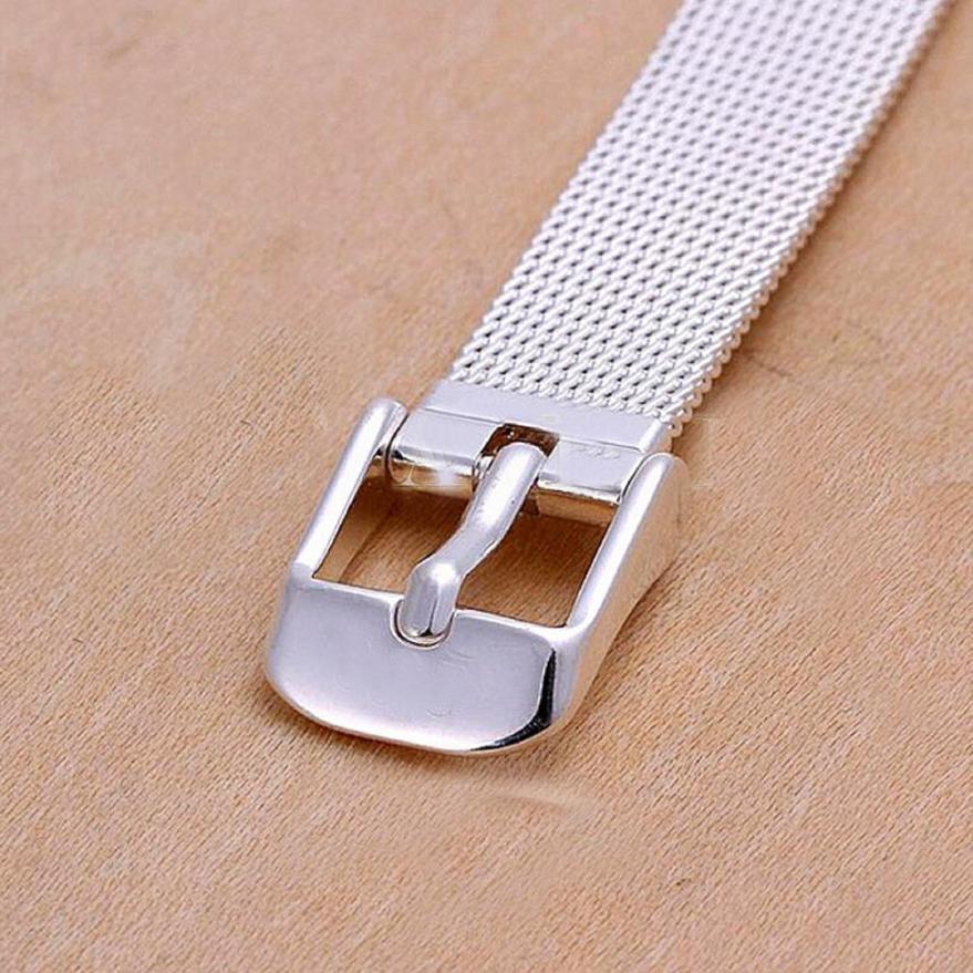 Superior moda milanesa pulseras de acero inoxidable 18mm correa de banda de reloj Mar22
