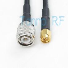 100 см rf RG58 удлинитель TNC штекер SMA штекер 3 фута 1 м косичку коаксиальный Соединительный кабель